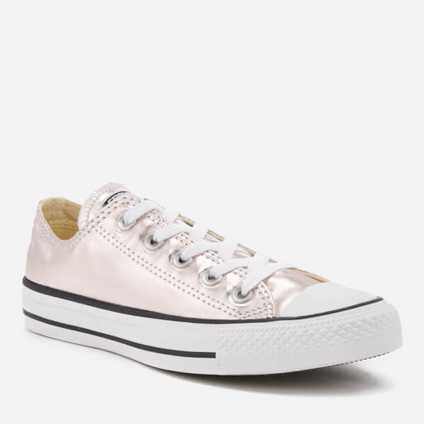 Converse Women s Chuck Taylor All Star Metallic Canvas Ox Trainers - Rose  Quartz White  5a9e03cdd