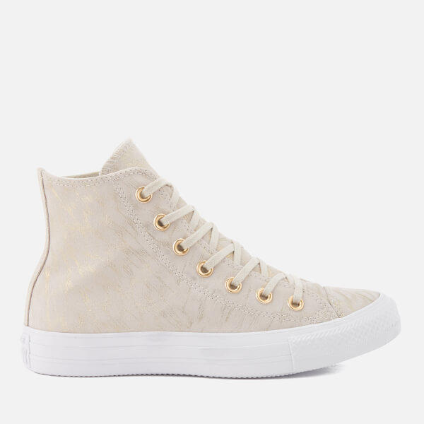 Converse Women's Chuck Taylor All Star Hi-Top Trainers - Buff/Buff/White