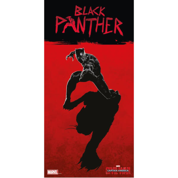 Captain America Civil War Glass Poster - Black Panther (60 x 30cm)