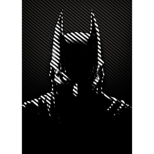 DC Comics Metal Poster - Batman Noir Caped Crusader (32 x 45cm)