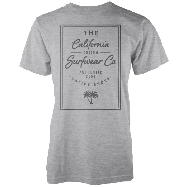 T-Shirt Homme California Surfwear Co. Native Shore - Gris