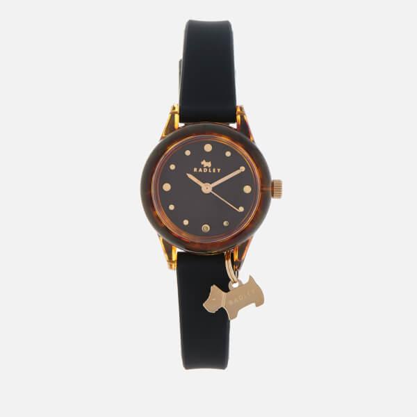 Radley Women's Watch It! Silicone Strap Watch - Black