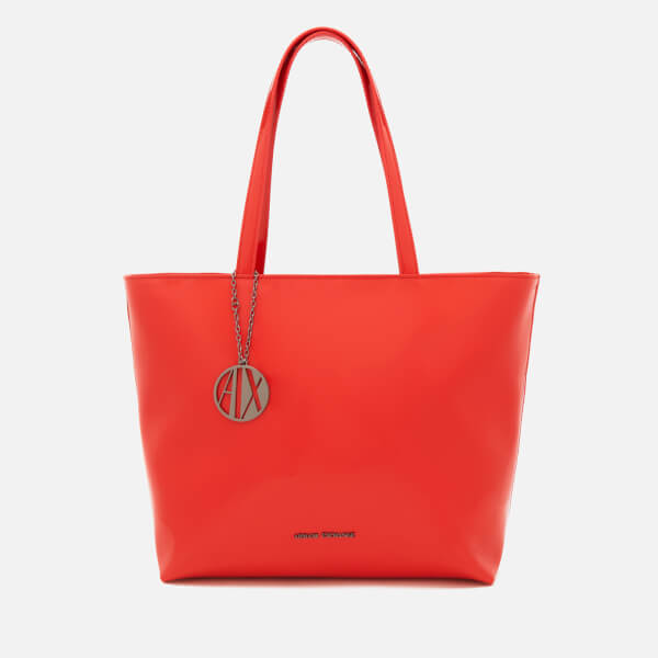 4ee1369efe2b Armani Exchange Women s Patent Tote Bag - Poppy Red Clothing ...