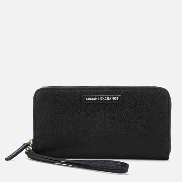 Armani Exchange Women's Wristlet Wallet - Black