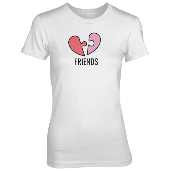 Friends Jigsaw Piece Women's White T-Shirt