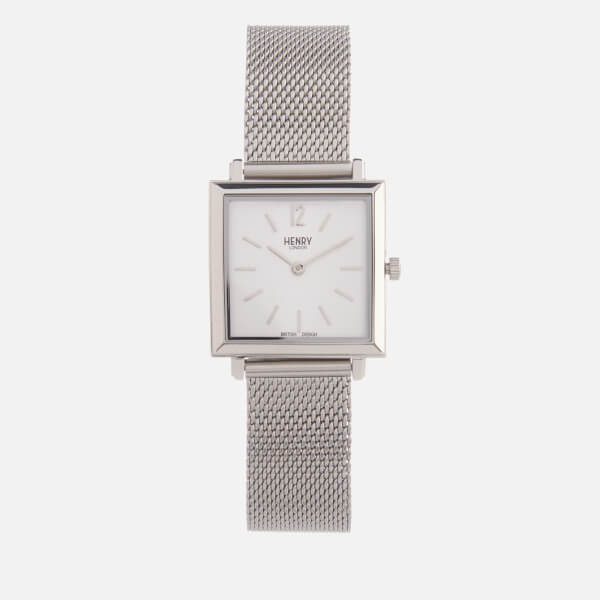 Henry London Women's Heritage Square Link Watch - Silver