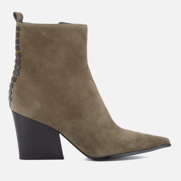 Kendall + Kylie Women's Felix Suede Heeled Ankle Boots - Olive