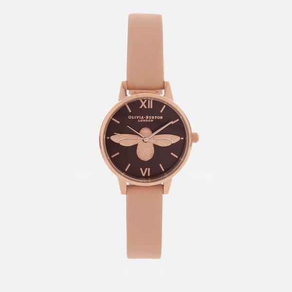 Olivia Burton Women's 3D Bee Watch - Nude Peach/Rose Gold