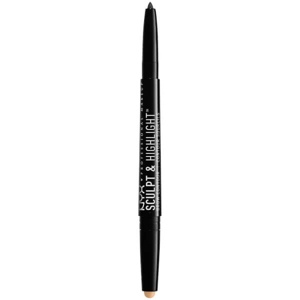 NYX Professional Makeup Sculpt & Highlight Brow Contour - Black/Golden Peach