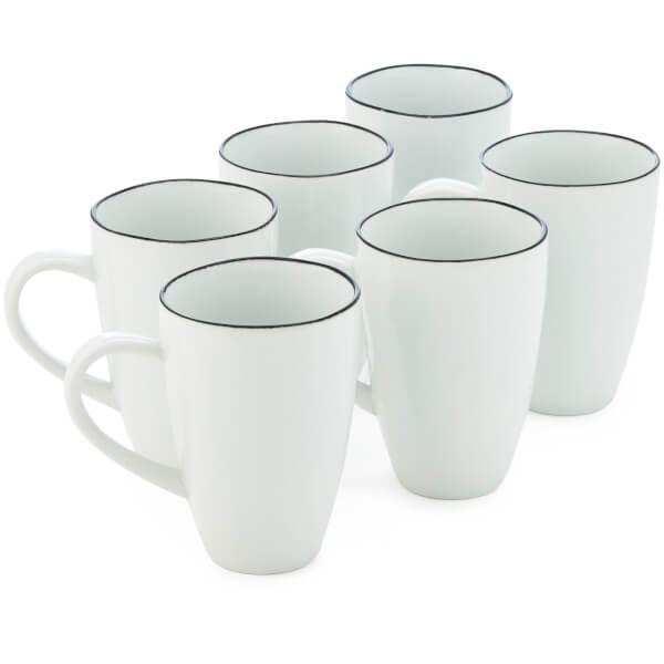 broste copenhagen salt mug white set of 6 homeware. Black Bedroom Furniture Sets. Home Design Ideas