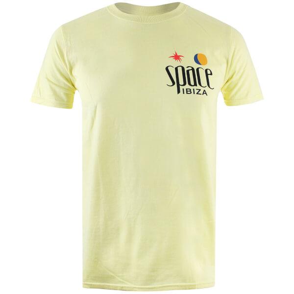 Space Ibiza Men's Classic Logo T-Shirt - Pale Yellow