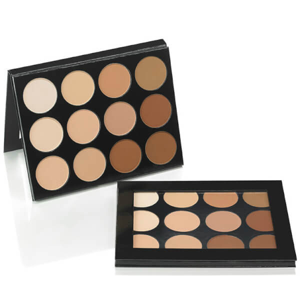 mehron Celebre Pro HD Pressed Powder Foundation 12 Color Contour/Highlight Palette 48g