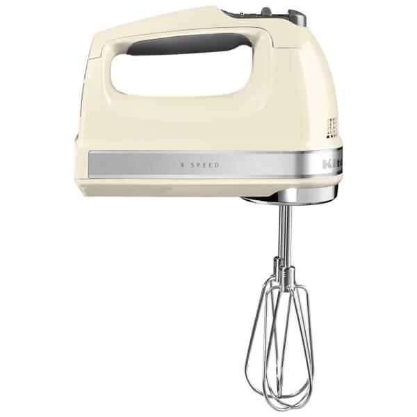 KitchenAid 5KHM9212BAC 9 Speed Hand Mixer - Almond Cream