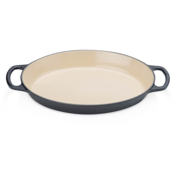 Le Creuset Signature Cast Iron Oval Gratin Dish - 28cm - Satin Black