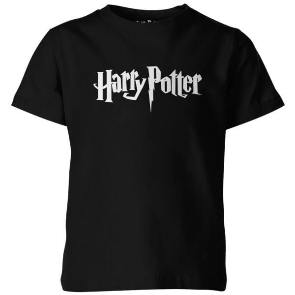 Harry Potter Logo Kid's Black T-Shirt