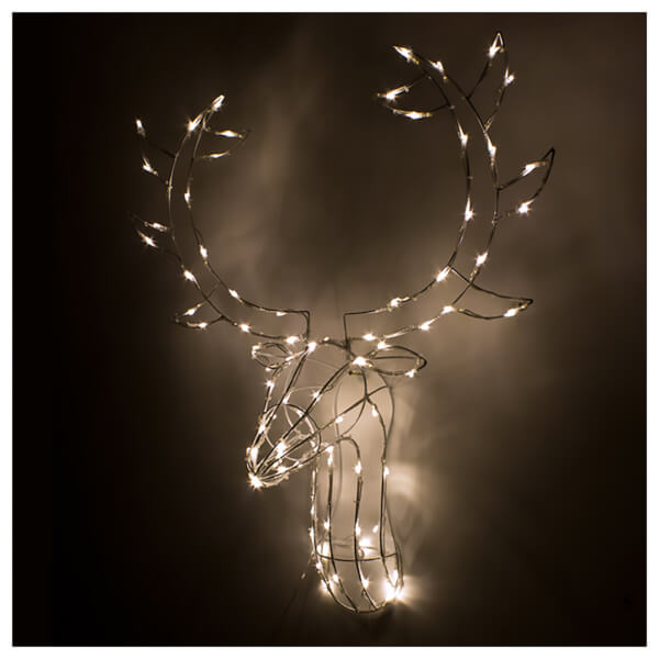 Christmas workshop led stag head wall decoration 60cm bright white christmas workshop led stag head wall decoration 60cm bright white mozeypictures Gallery