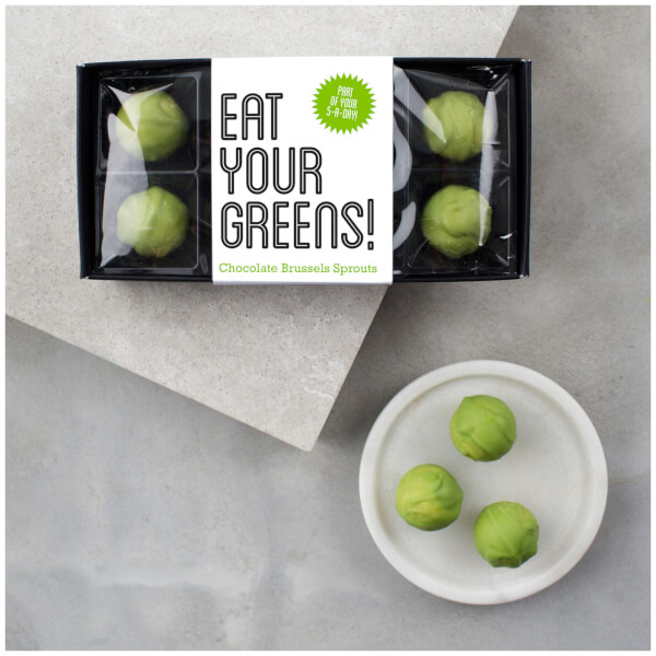 Eat Your Greens Box of Chocolate Brussels Sprouts