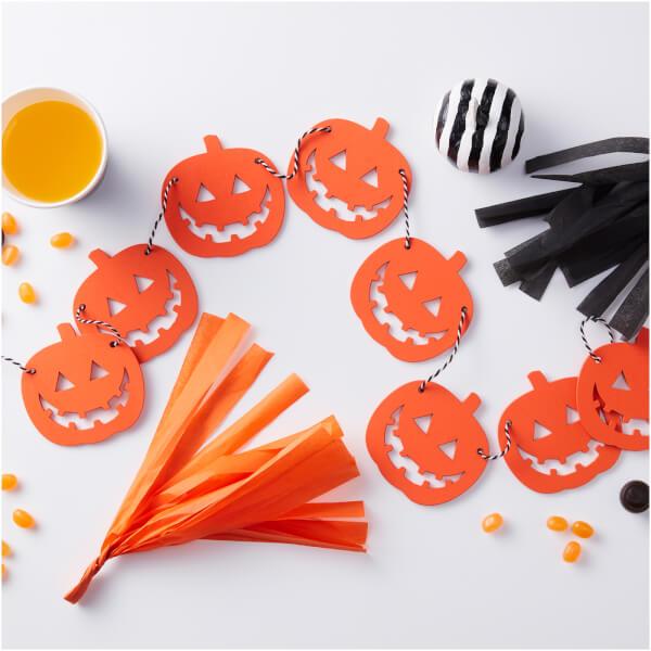 Ginger Ray Wooden Pumpkin Shaped Bunting - Pumpkin Party