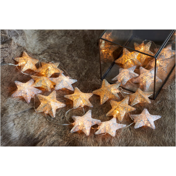 Sirius Bolette Gold And Silver 20 Led Star String Lights 2 85m 3m