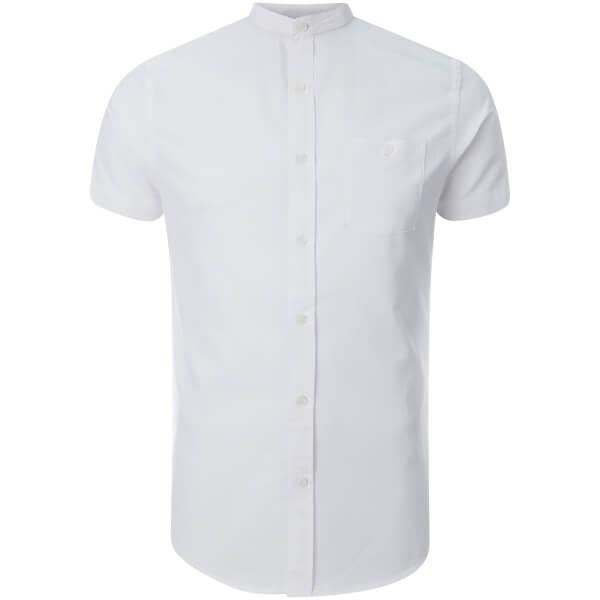 Brave Soul Men's Tribune Short Sleeve Shirt - White