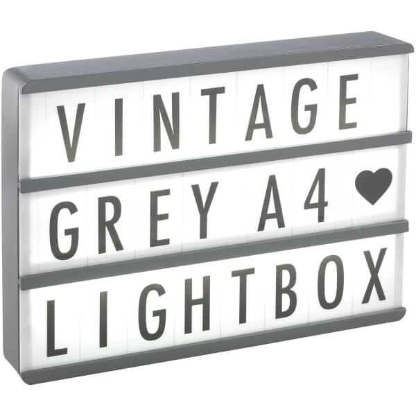 A4 Premium Wood Cinematic Lightbox - Vintage Grey