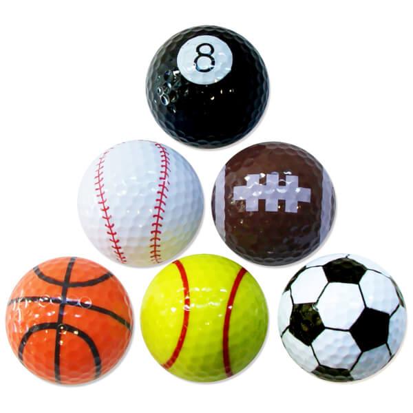PGA Tour Sport Balls (6 Pack)