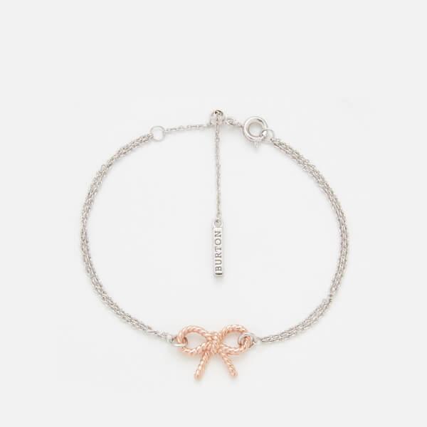 Olivia Burton Women's Vintage Bow Chain Bracelet - Rose Gold/Silver mix