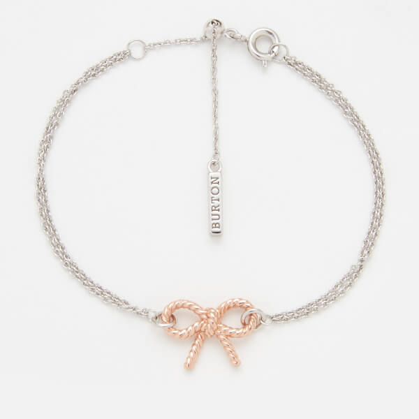Olivia Burton Women's Vintage Bow Chain Bracelet - Rose Gold/Silver mix