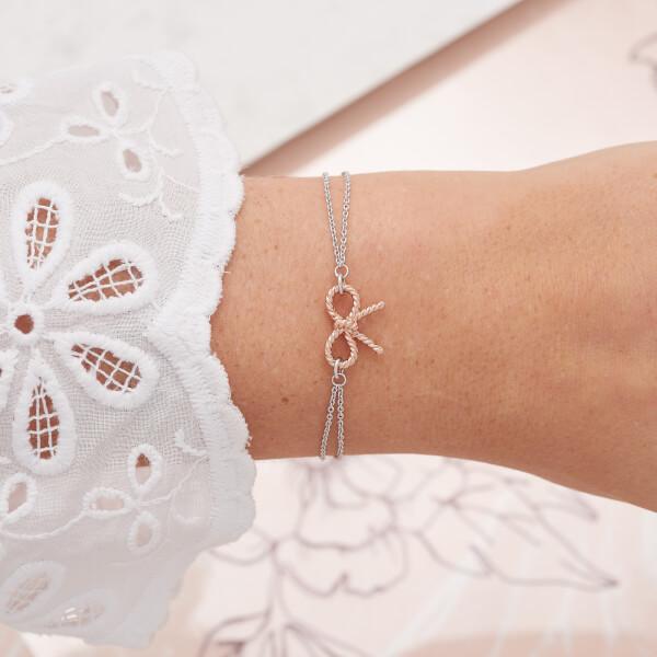 17ee992a395c Olivia Burton Women s Vintage Bow Chain Bracelet - Rose Gold Silver mix   Image 2