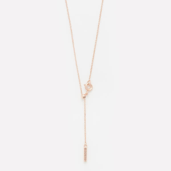 Olivia Burton Women's Moulded Bee and Ball Necklace - Rose Gold