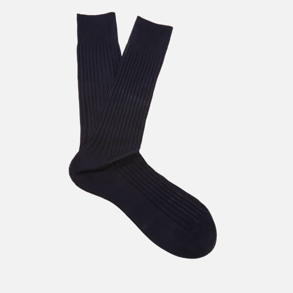 Pantherella Men's Danvers Classic Cotton Socks - Navy