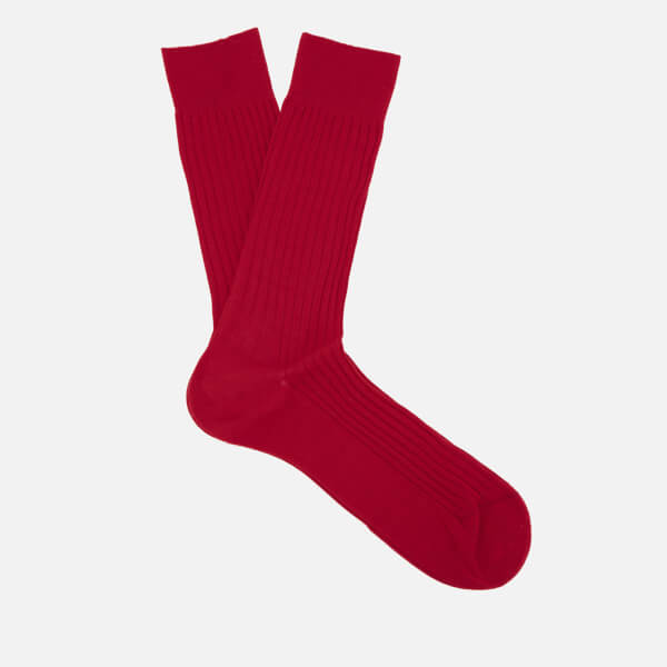 Pantherella Men's Danvers Classic Cotton Socks - Scarlett