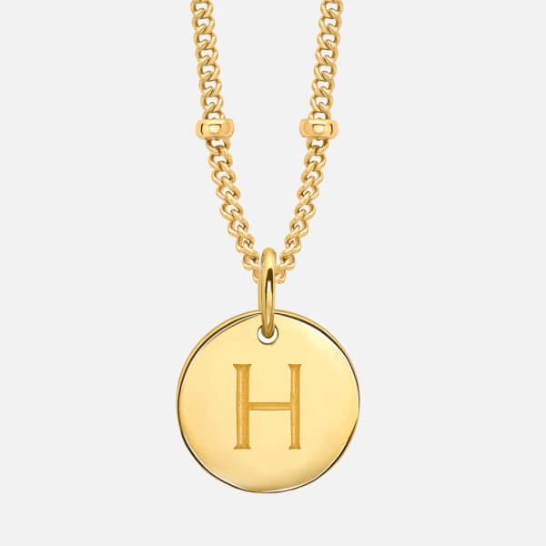 Missoma womens gold h initial necklace gold aloadofball Choice Image