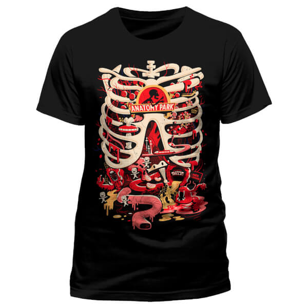 Rick and Morty Men\'s Anatomy Park T-Shirt - Black Merchandise | Zavvi