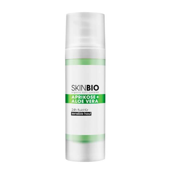 SKINBIO APRIKOSE + ALOE VERA 24h Fluid für sensible Haut