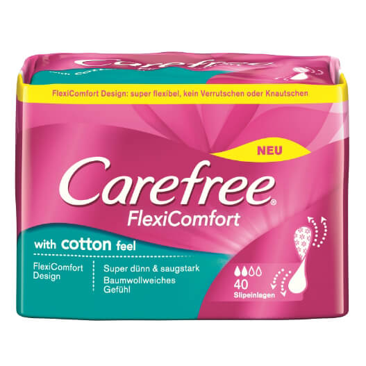 Carefree FlexiComfort with cotton feel