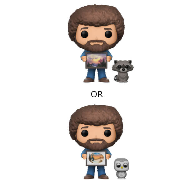 Bob Ross with Raccoon Pop! Vinyl Figure