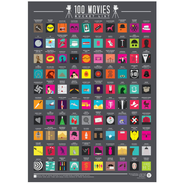 100 Movies Bucket List Poster | IWOOT