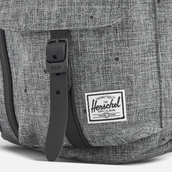 cd0d22081a1 Herschel Supply Co. Men s Dawson Xtra Small Backpack - Scattered Raven  Crosshatch Black Rubber