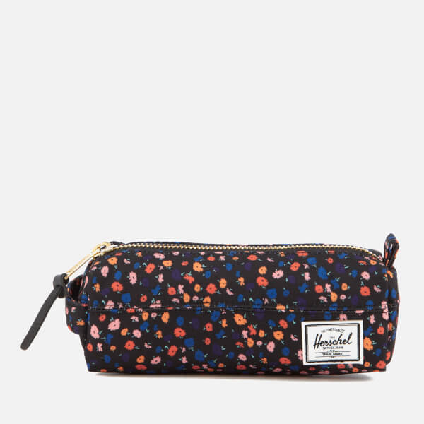 Herschel Supply Co. Women's Settlement Pencil Case - Black Mini Floral