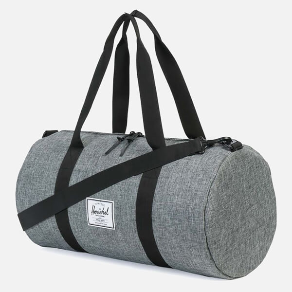 Herschel Supply Co. Men s Sutton Mid-Volume Duffle Bag - Raven Crosshatch  Black b524a5cb6b880