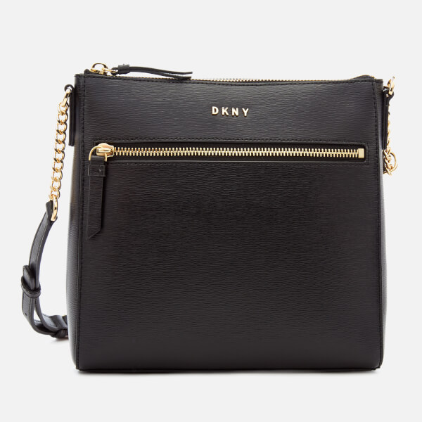 DKNY Women's Bryant Top Zip Cross Body Bag - Black
