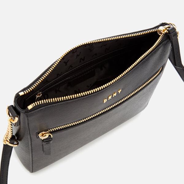 DKNY Women s Bryant Top Zip Cross Body Bag - Black  Image 5