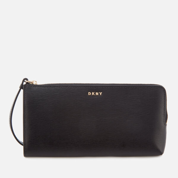 DKNY Women's Bryant Medium Wristlet Pouch Bag - Black: Image 01