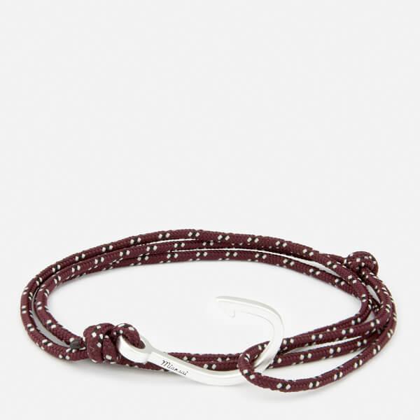 Miansai Men's Rope Bracelet with Silver Hook - Bordeaux