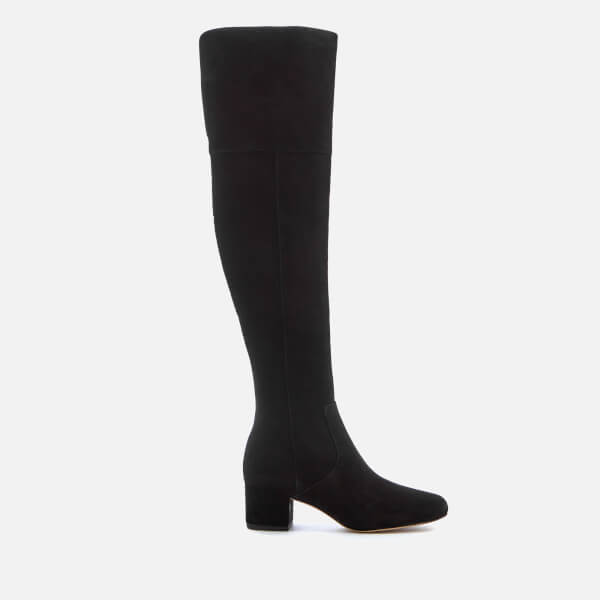 Sam Edelman Women's Elina Suede Thigh High Boots - Black