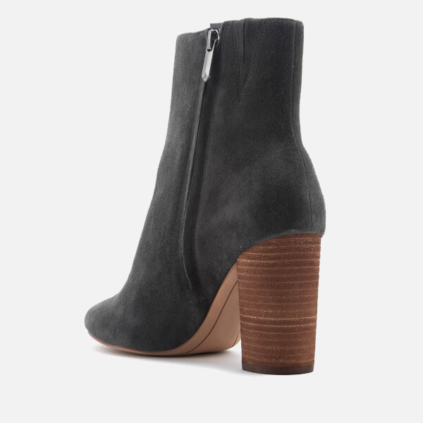 Sam Edelman Women's Corra Suede Heeled Ankle Boots - Asphalt - US 6/UK 4