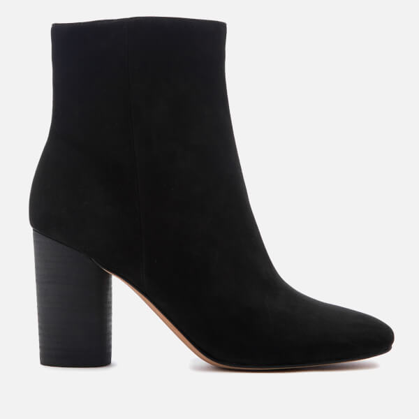Sam Edelman Women's Corra Suede Heeled Ankle Boots - Black