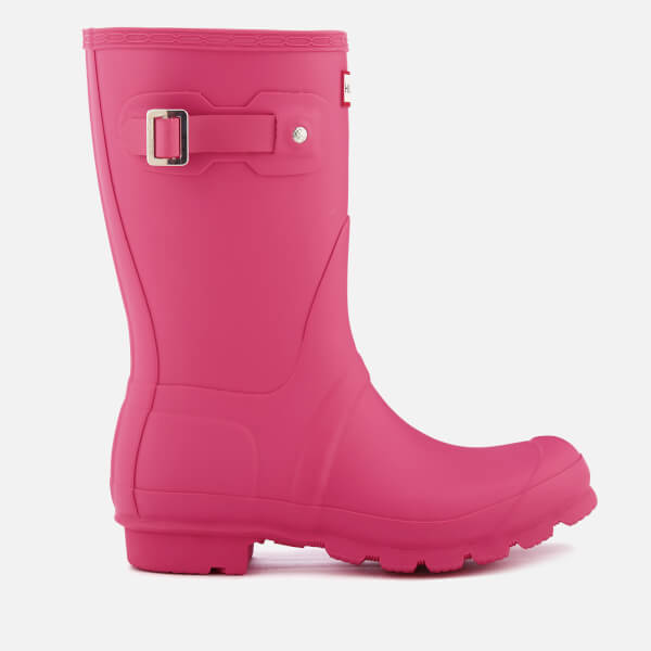 Womens Boots Hunter Original Short Bright Cerise