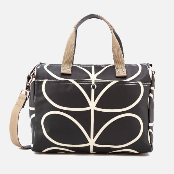 Orla Kiely Women s Giant Linear Stem Messenger Bag - Liquorice  Image 1 1de1001f34b5b